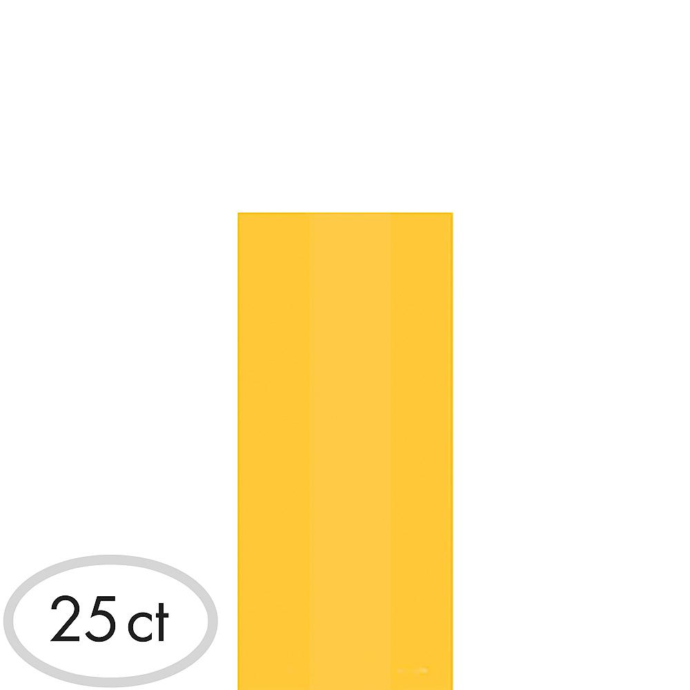 Small Sunshine Yellow Plastic Treat Bags 25ct Image #1
