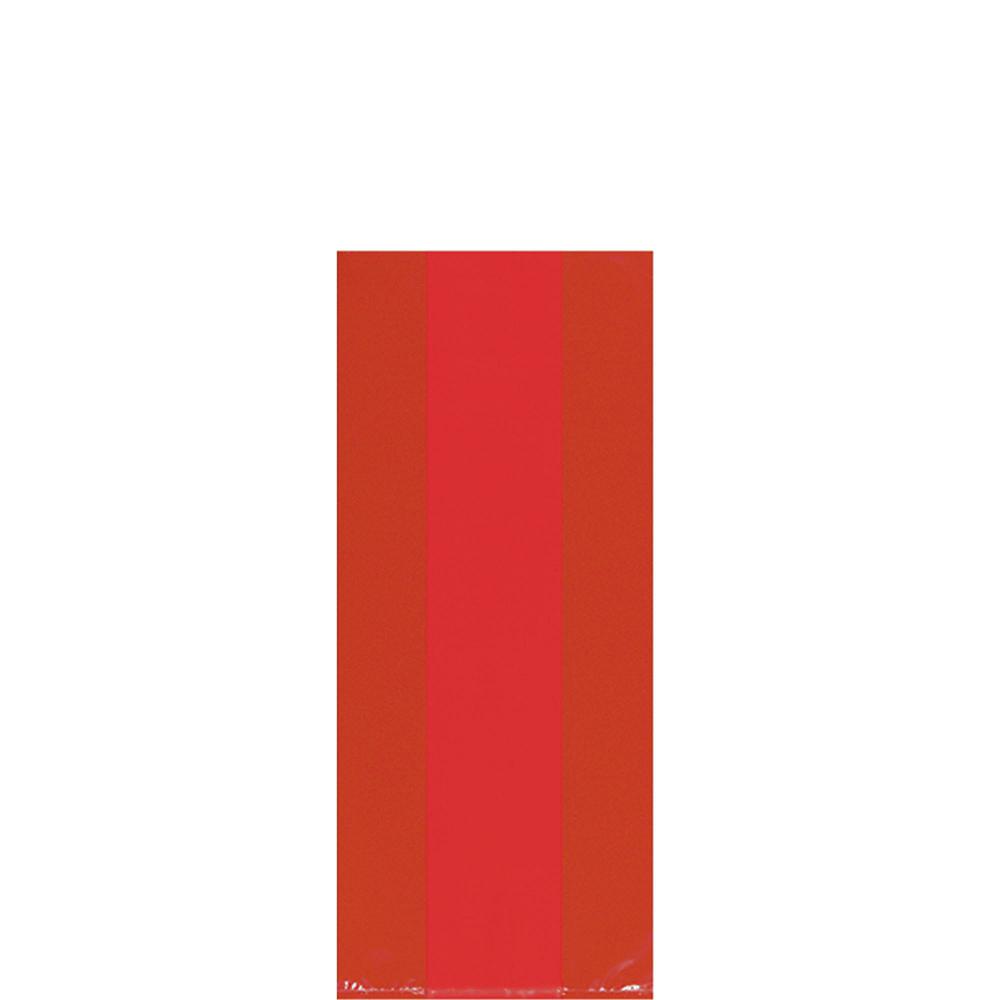 Medium Red Plastic Treat Bags 25ct Image #1