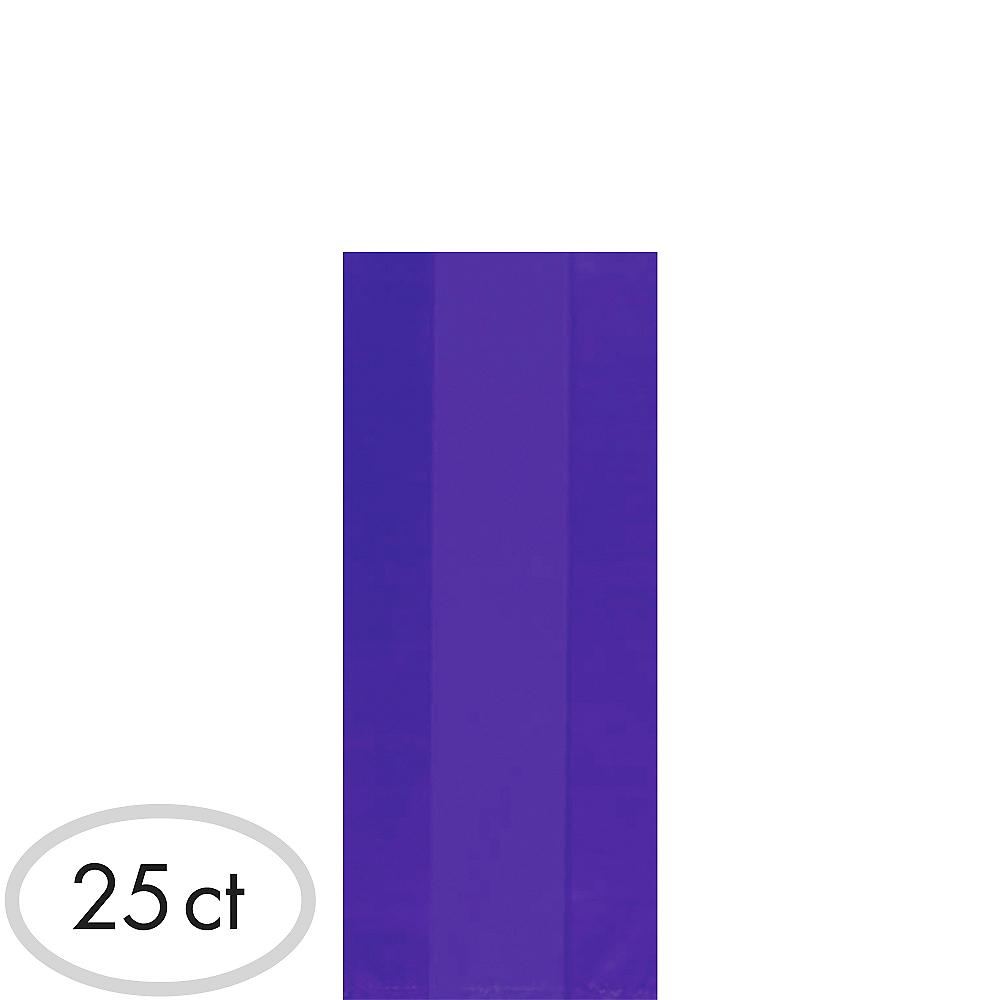 Medium Purple Plastic Treat Bags 25ct Image #1