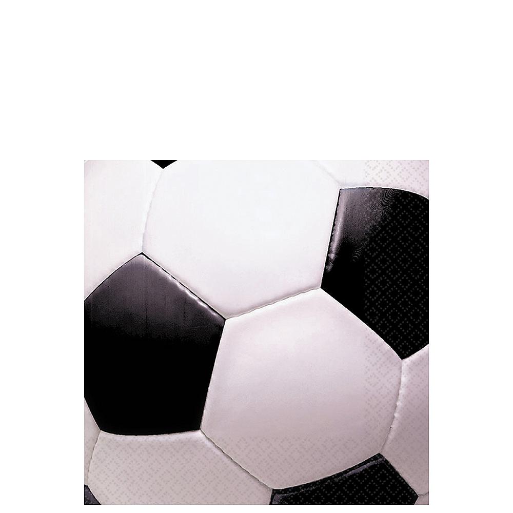 Soccer Fan Beverage Napkins 16ct Image #1