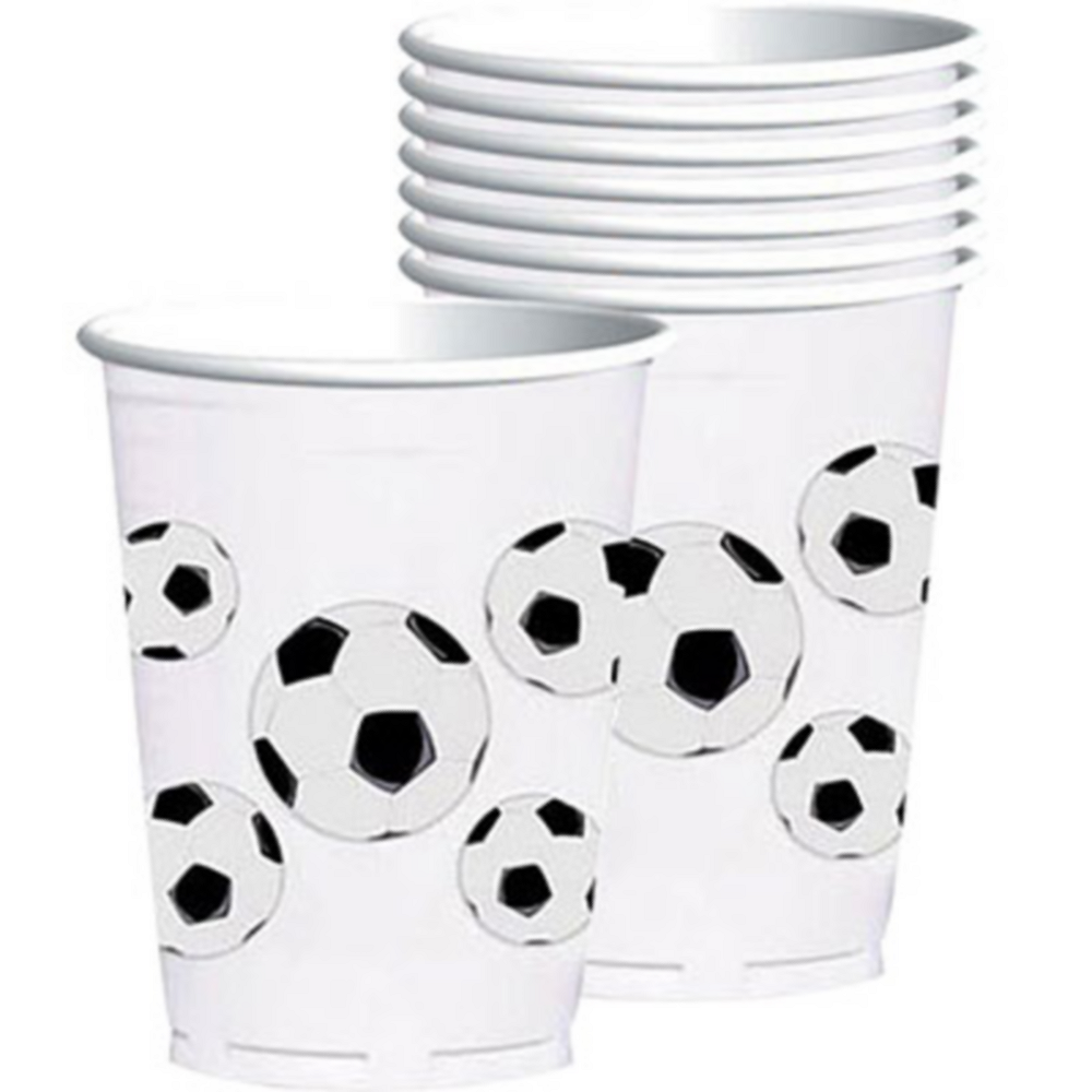 Plastic Soccer Fan Cups 8ct Image #1