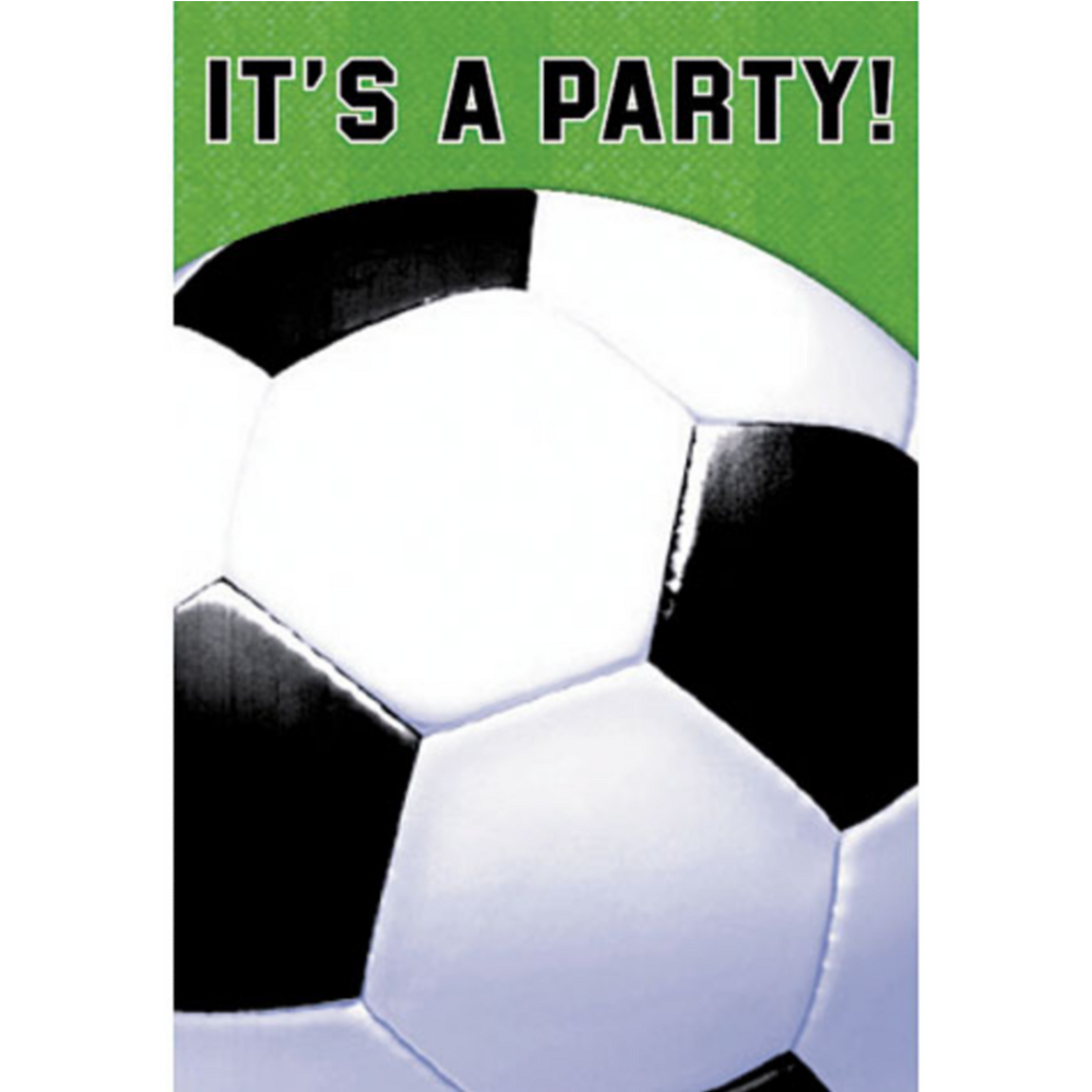 Soccer Fan Invitations 8ct Image #1