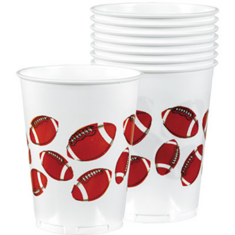 Football Fan Plastic Cups 8ct Image #1