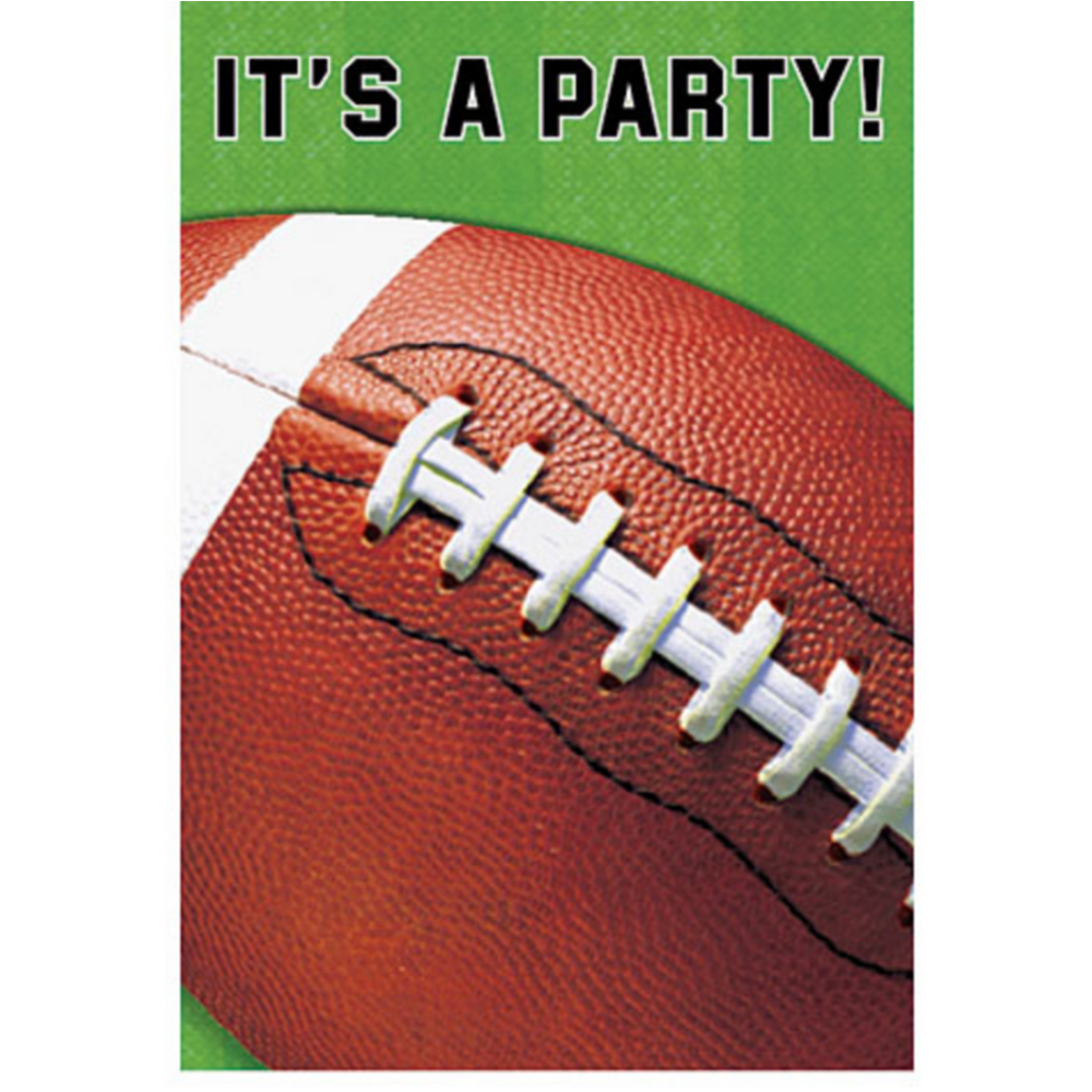 Football Fan Invitations 8ct Image #1