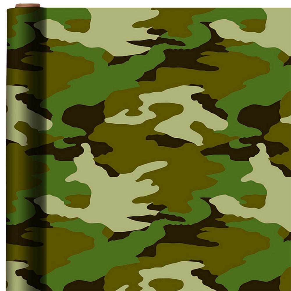 Camouflage Gift Wrap Image 1