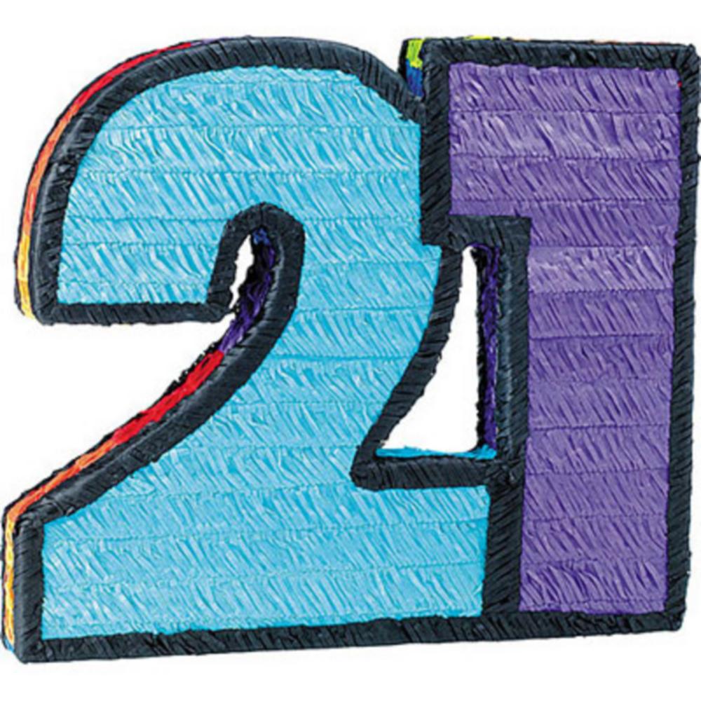 Number 21 Pinata Image #1