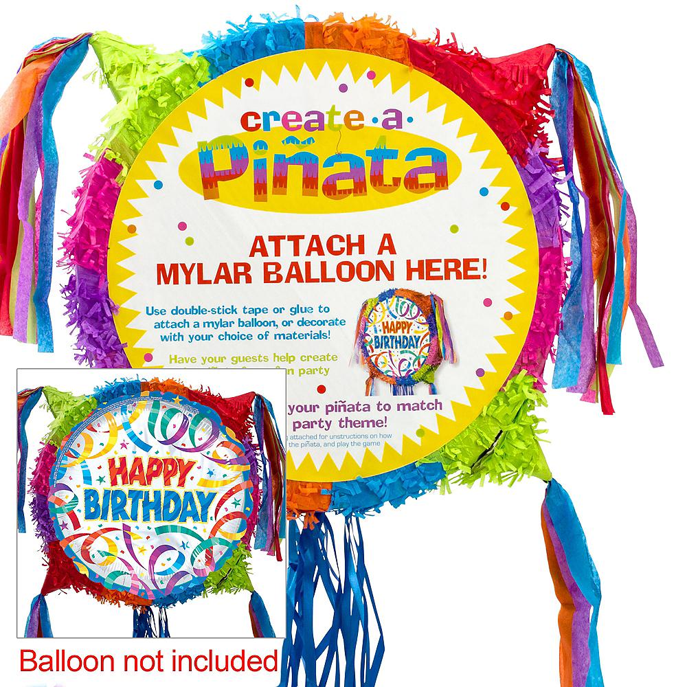 Pull String Add-a-Balloon Multicolor Pinata Image #1