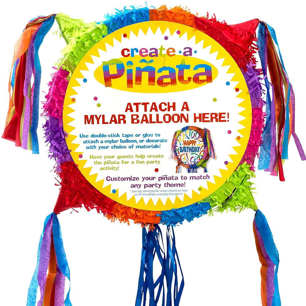 Pull String Add-a-Balloon Multicolor Pinata Image #2