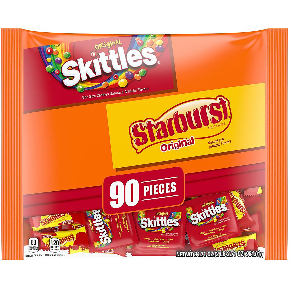 Skittles & Starburst Fun Size Variety Mix 90ct Image #1