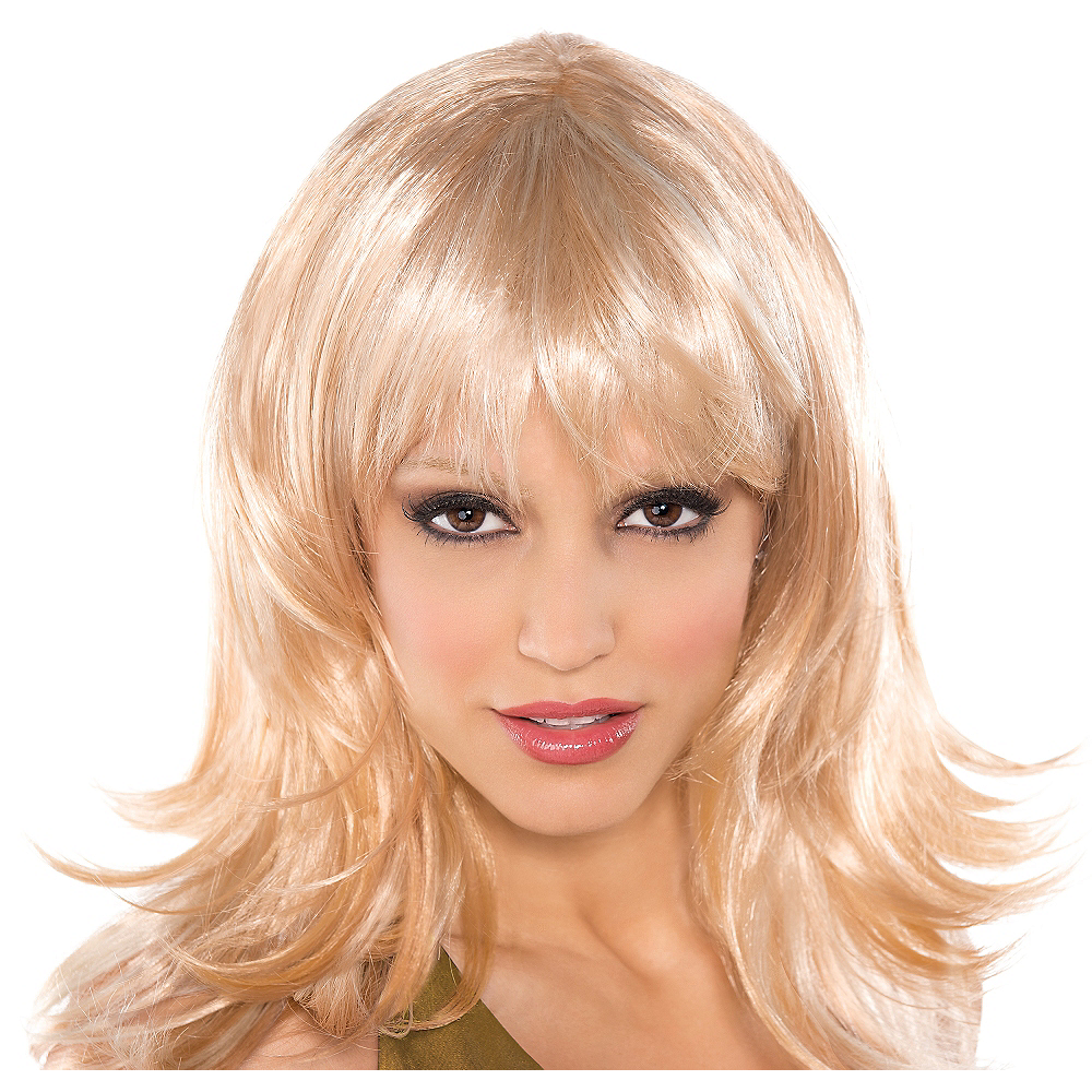 Nav Item for Flirty Feathered Blonde Wig Image #1
