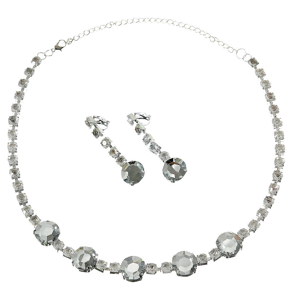 Faux Rhinestone Jewelry Set Image 1