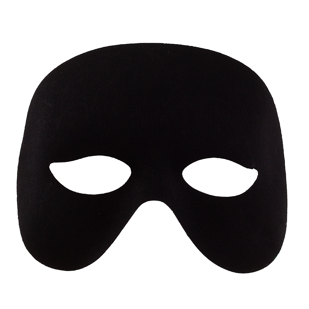Black Domino Cocktail Mask Image #1