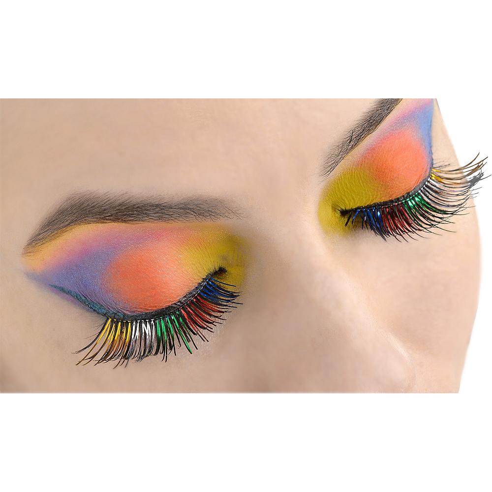 Rainbow Foil False Eyelashes Party City
