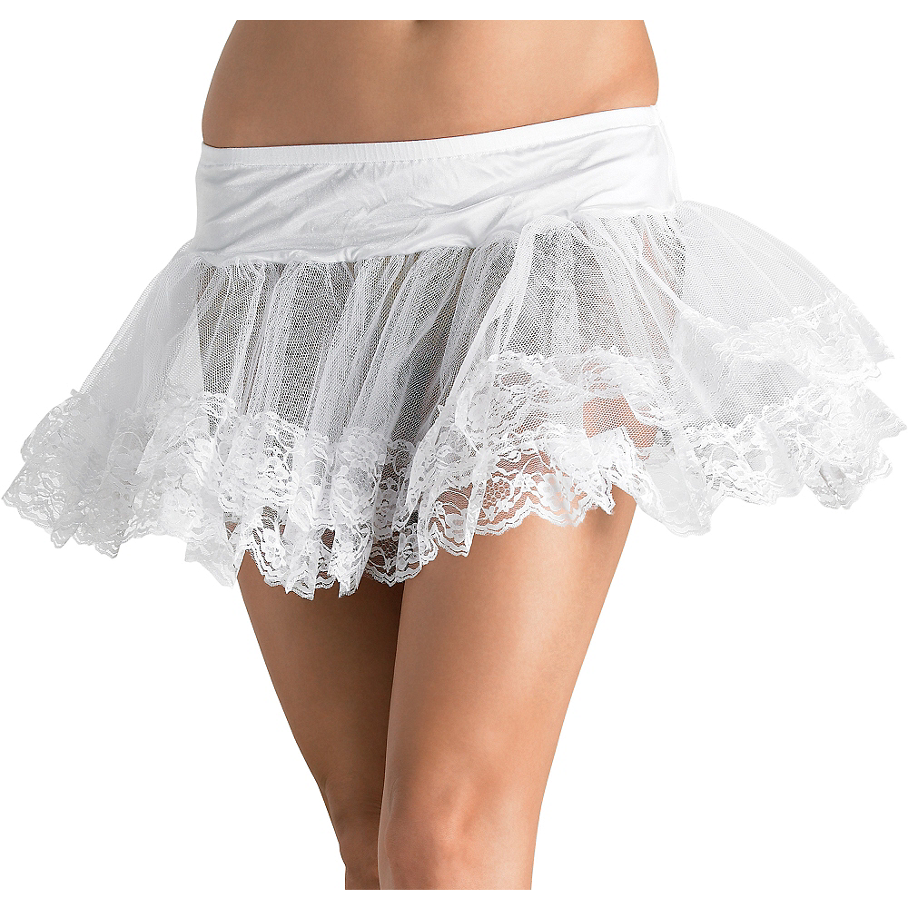 Nav Item for Adult White Lace Petticoat Image #1