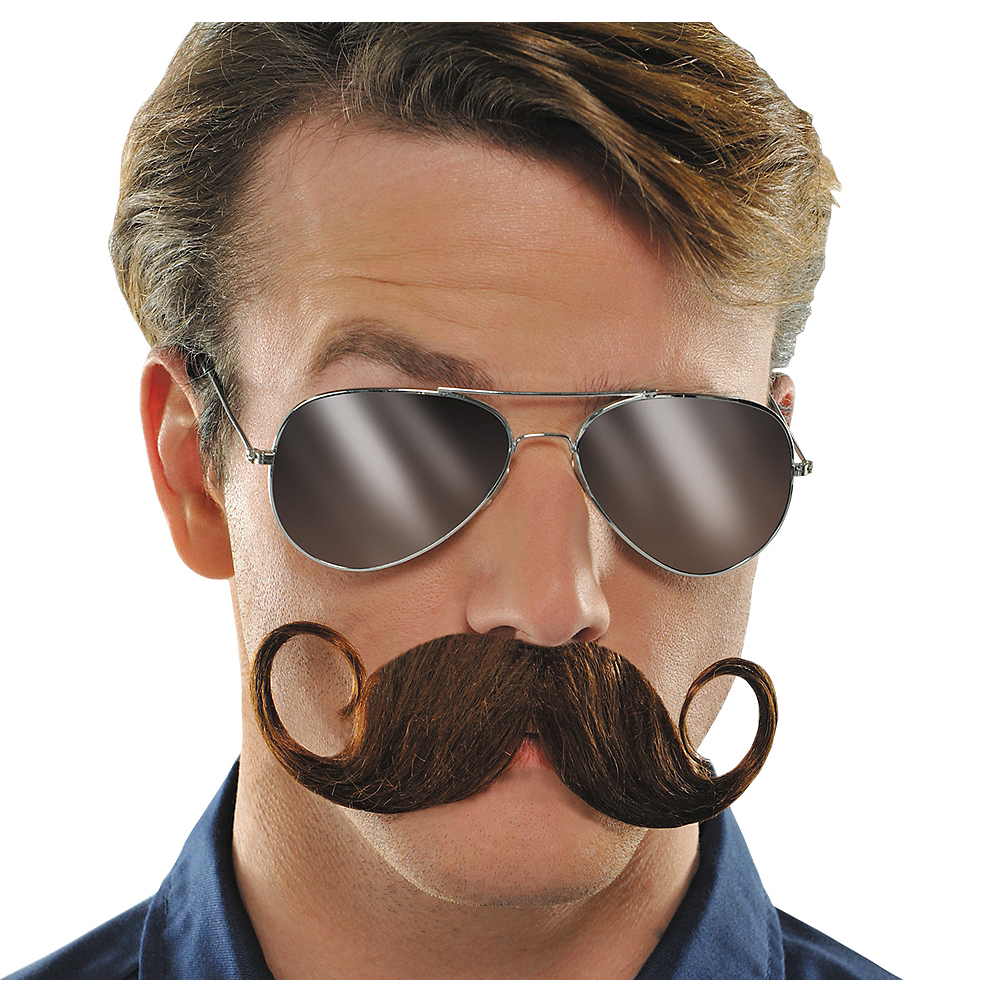 Brown Handlebar Moustache Image #1