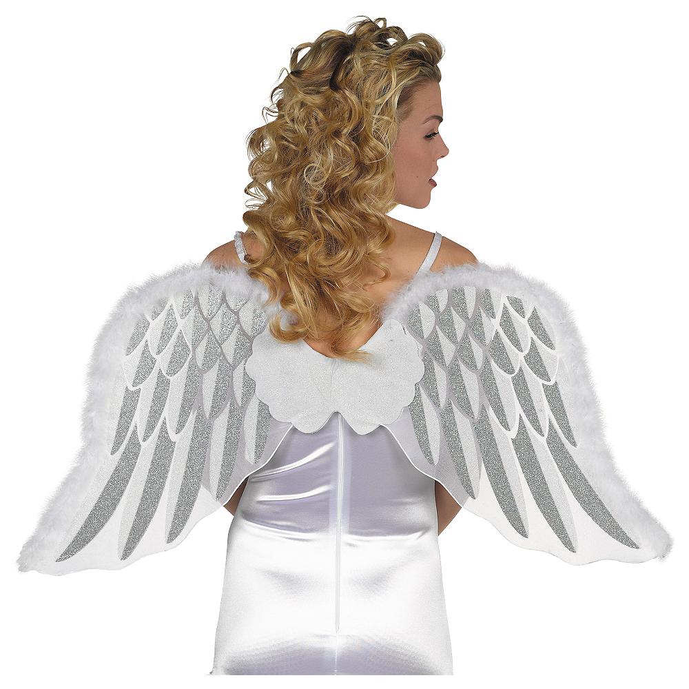 White Marabou Angel Wings Image #1