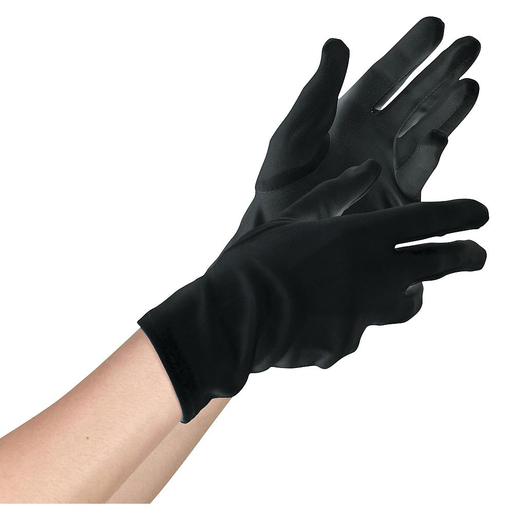 Teen Black Gloves Deluxe Image #1