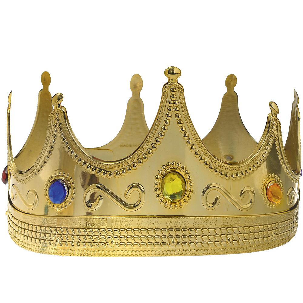 Adult Jeweled King Crown Image #1