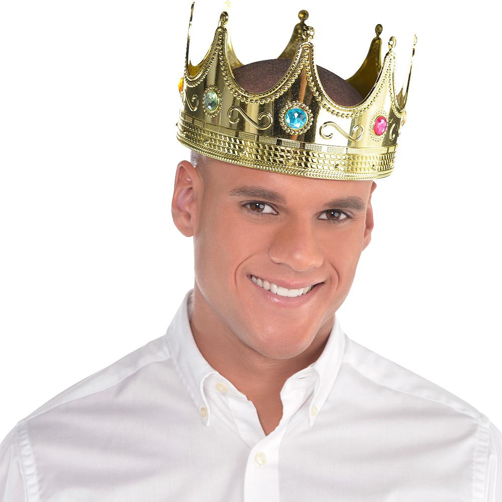 Adult Jeweled King Crown Image #2