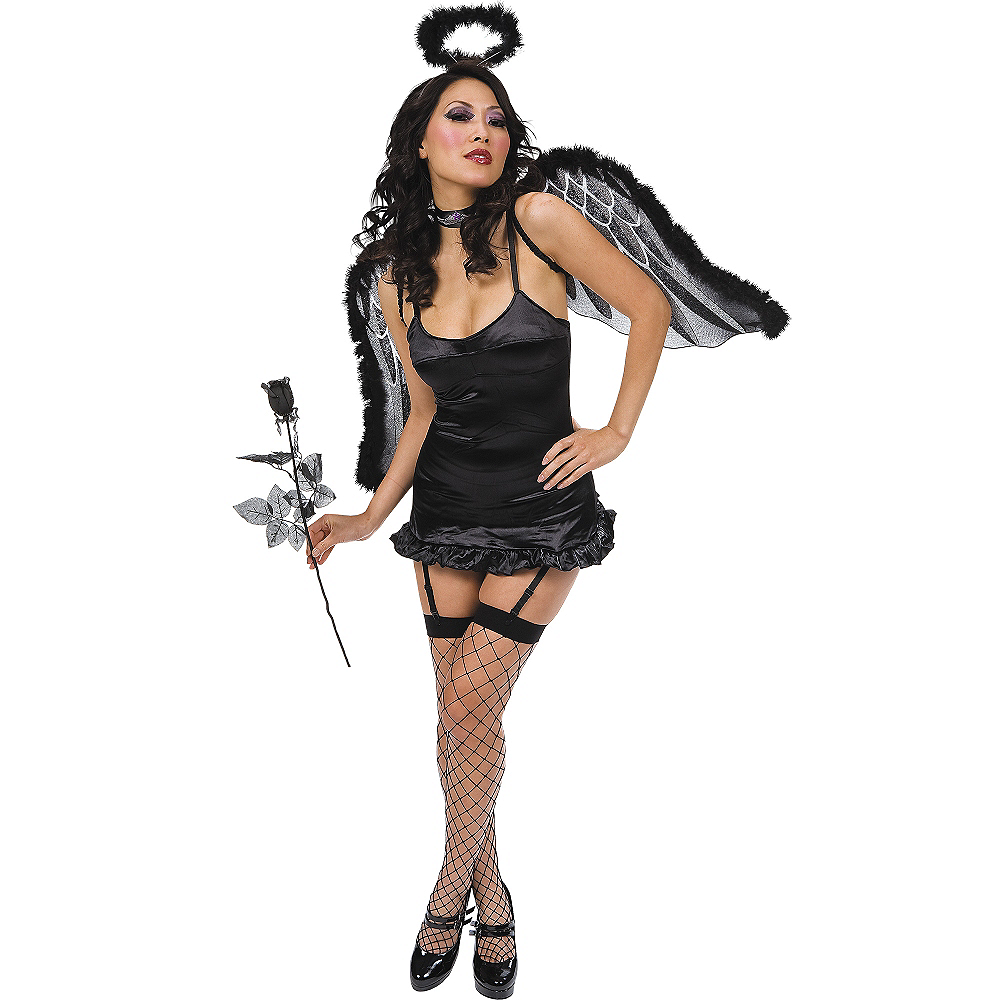 Black Marabou Angel Wings Image #2