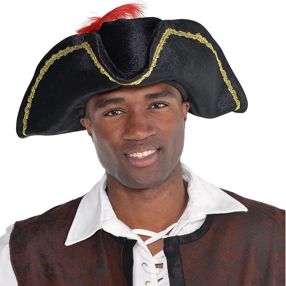 Black Buccaneer Pirate Hat Image #2