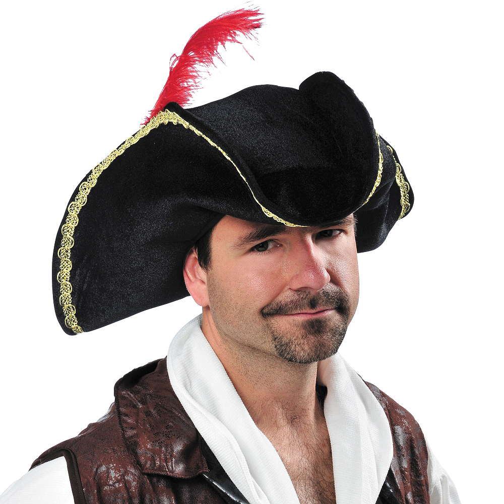 Black Buccaneer Pirate Hat Image #3