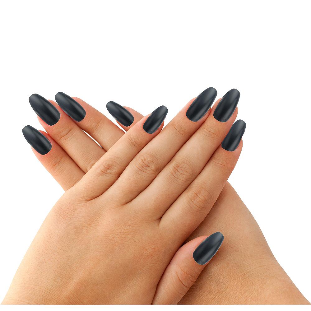 deluxe black fingernails party city