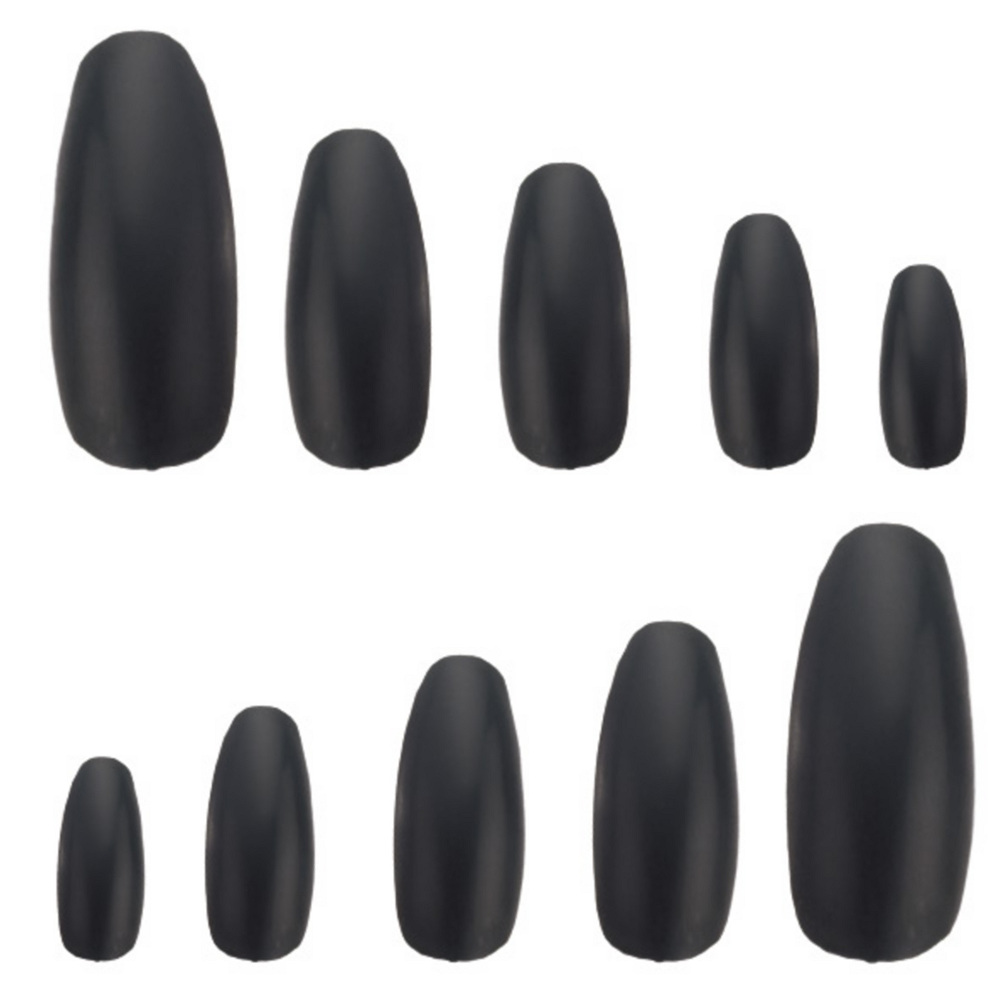 Deluxe Black Fingernails Image #2