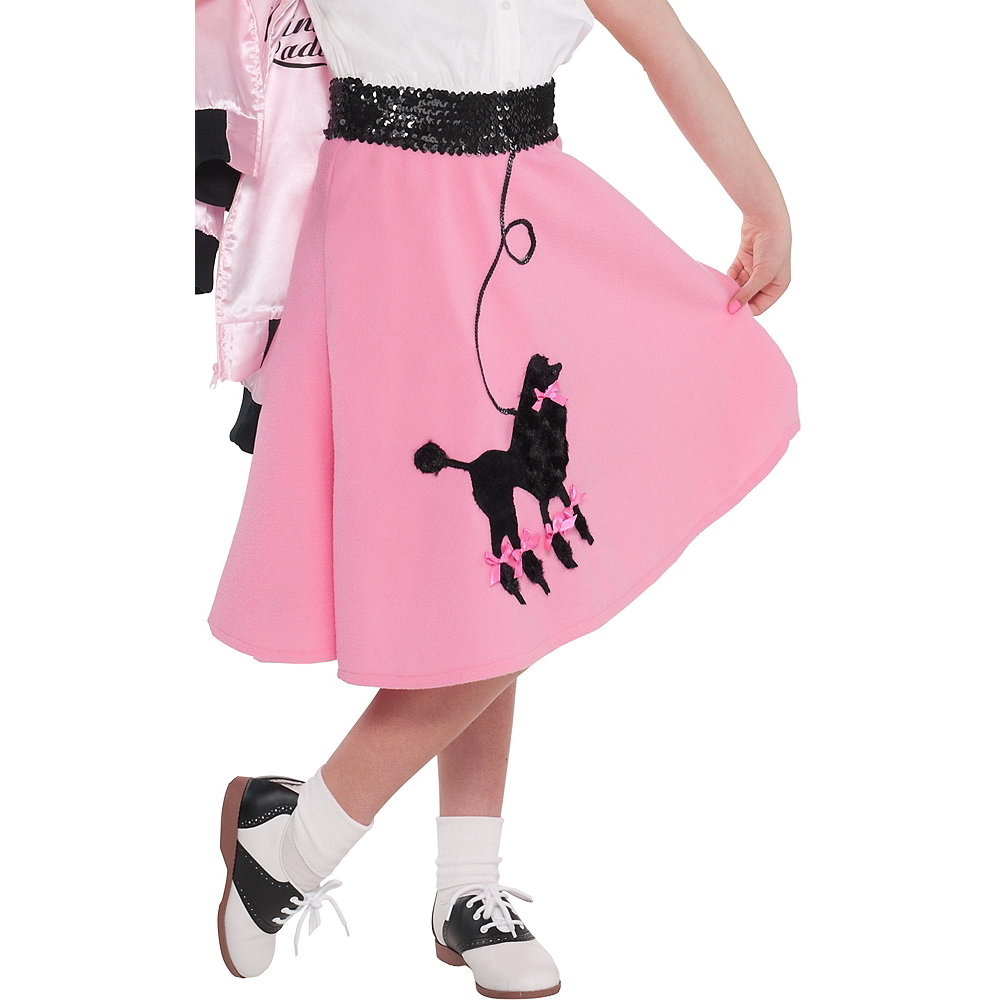 88763c54196e4 Pink Poodle Skirt for Girls | Party City