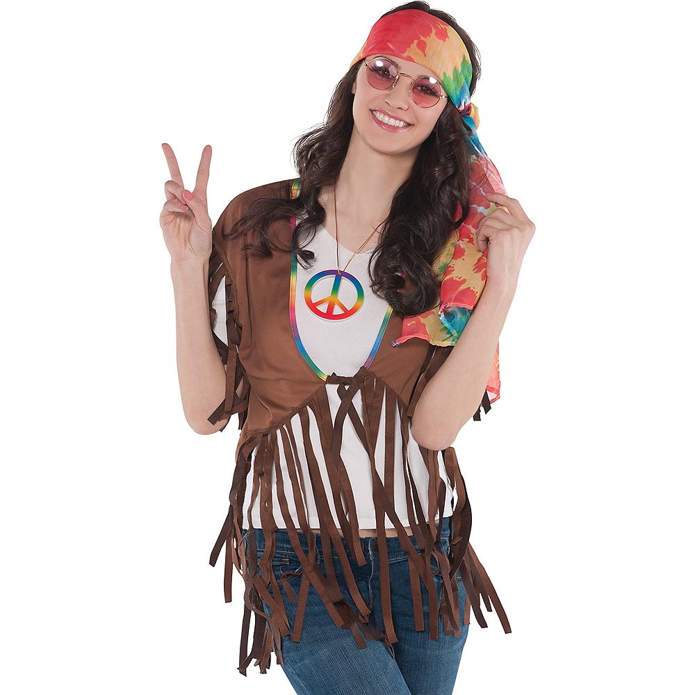 Adult Feelin' Groovy Fringe Vest Image #1