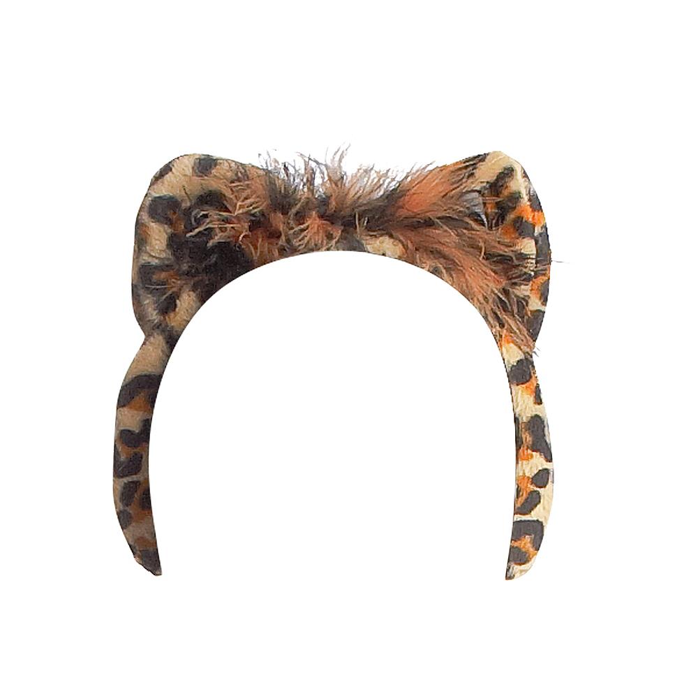 ANIMAL PRINT LEOPARD EARS PINK BROWN WHITE