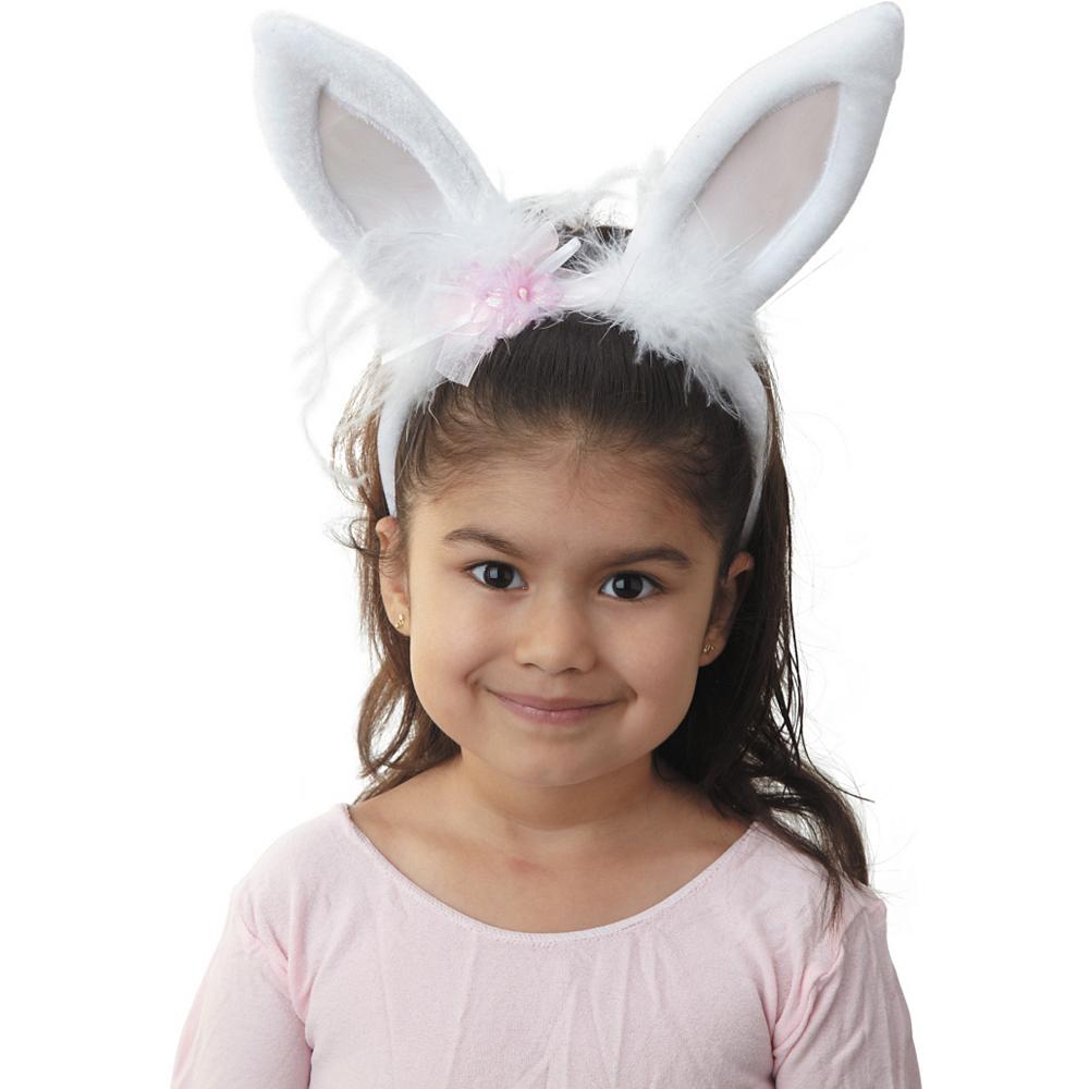 White Marabou Bunny Ears Image #2
