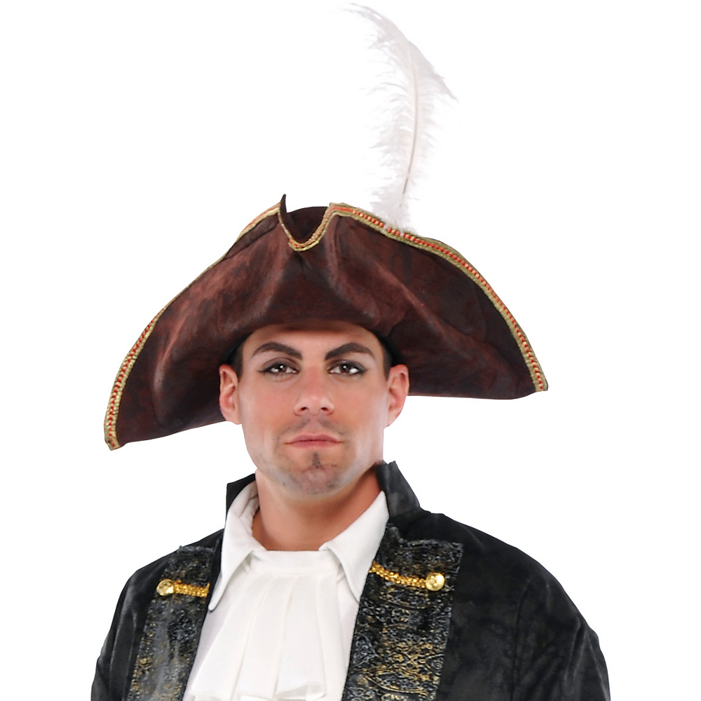 Brown Tricorn Pirate Hat Image #2