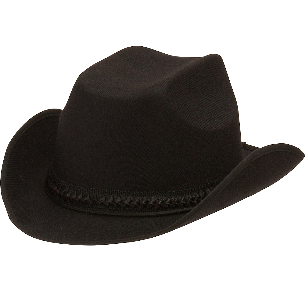 Child Black Cowboy Hat Image #1