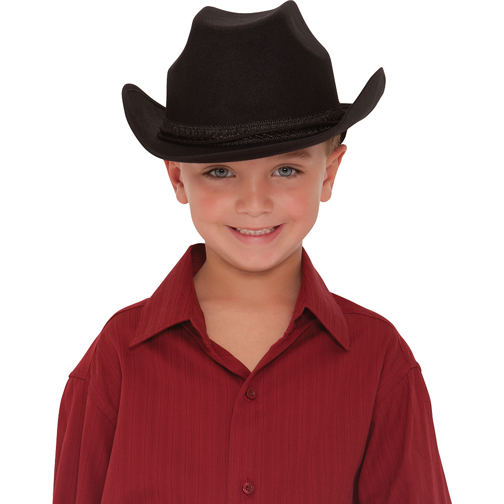 Child Black Cowboy Hat Image #2