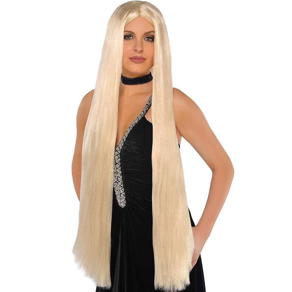 Extra Long Blonde Wig Image #1
