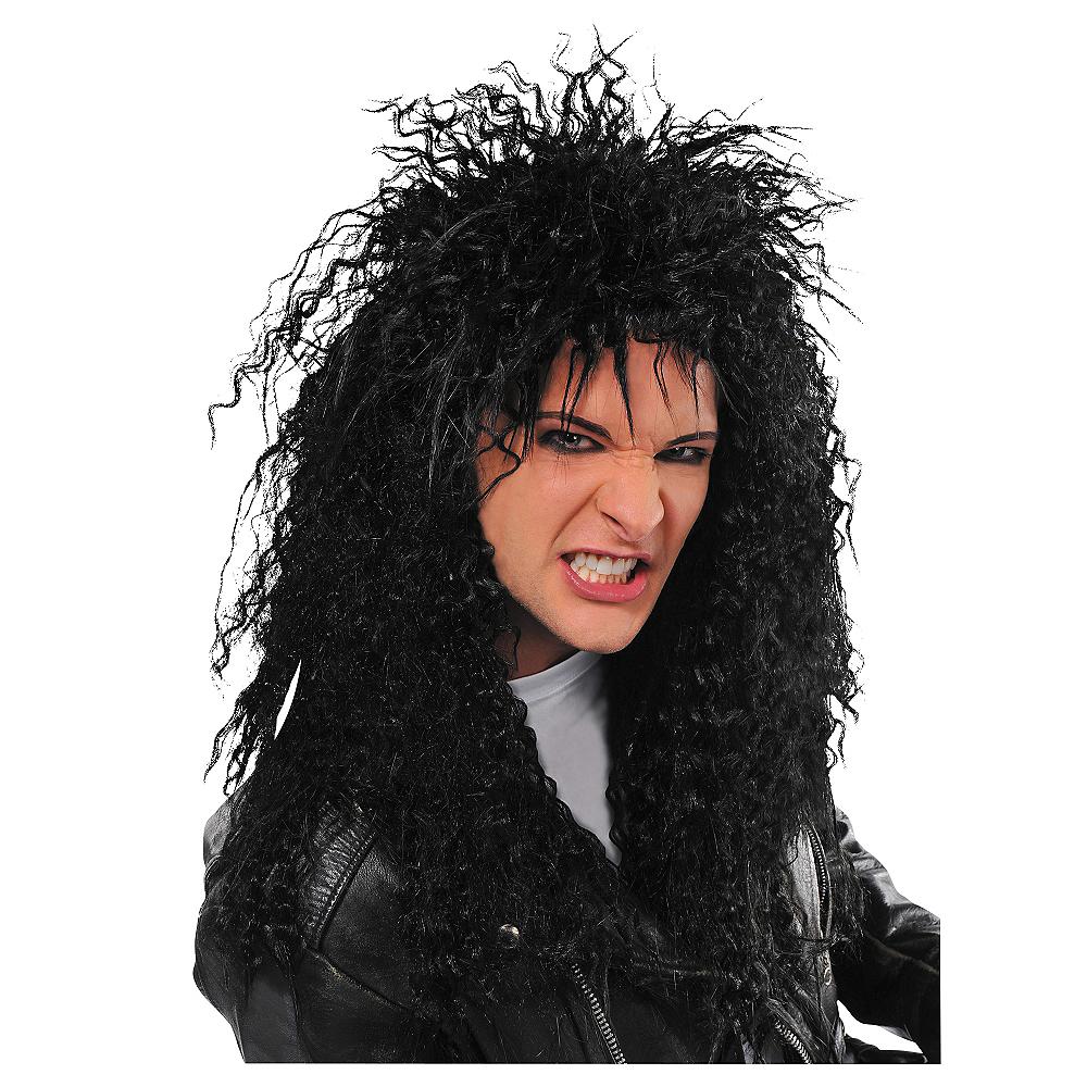 Black Rocker Wig Image #1