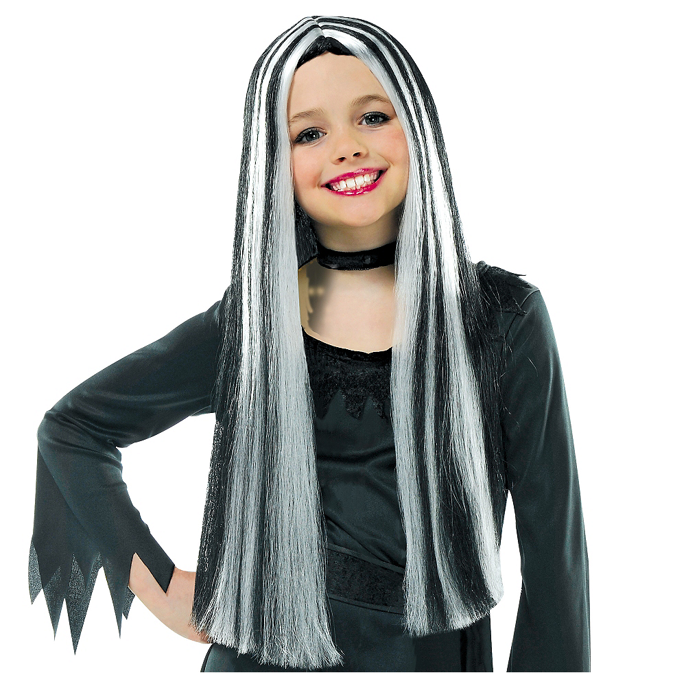 Child Streaked Witch Wig Image #1