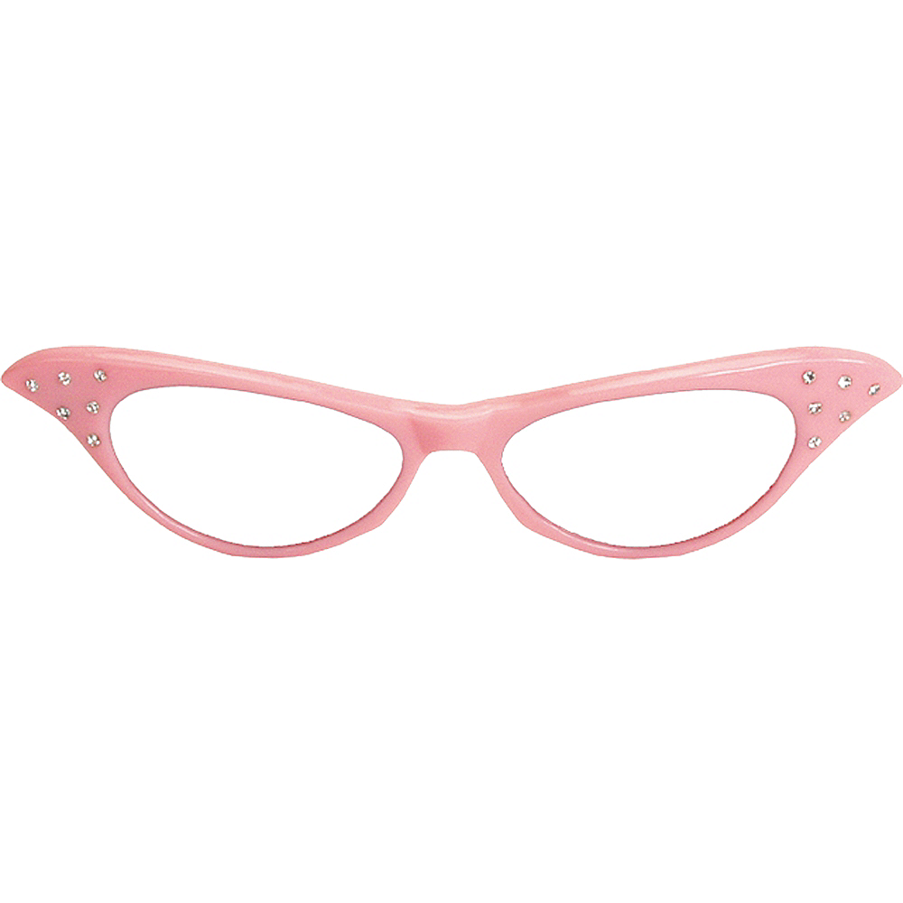 Pink 50's Glasses Image #1
