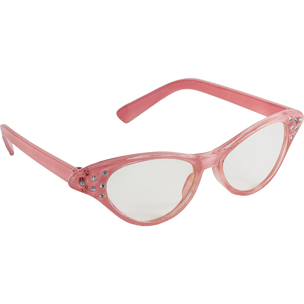 Pink 50's Glasses Image #2