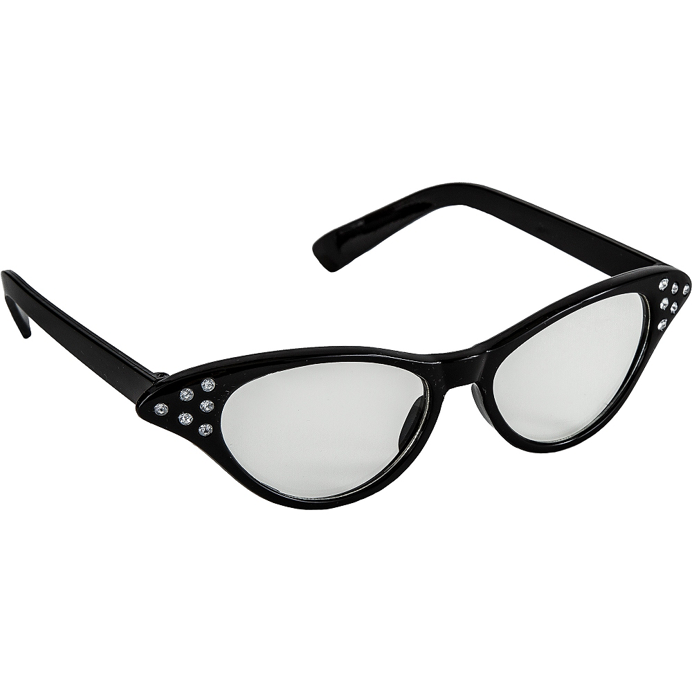 50's Black Glasses Image #2