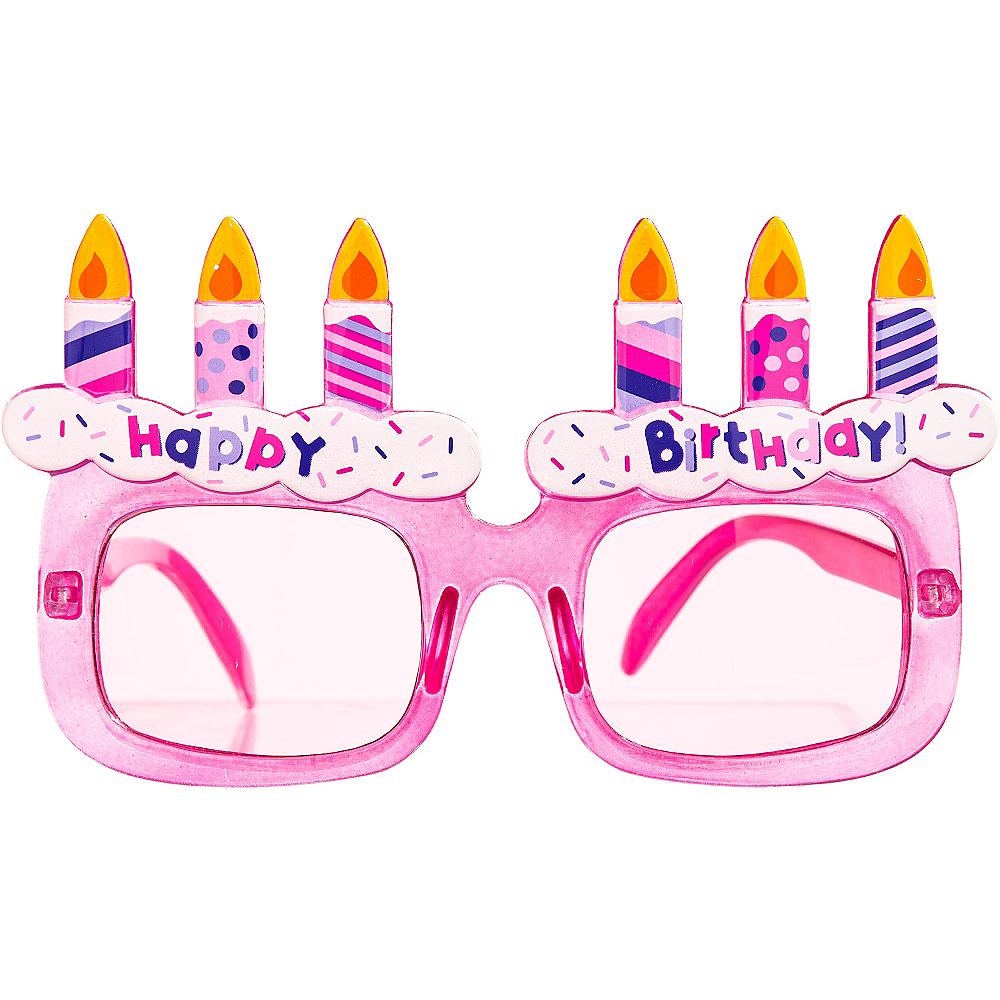 Pink Happy Birthday Sunglasses Image #1