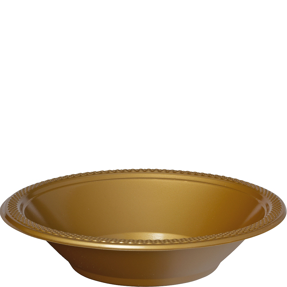 Nav Item for Gold Plastic Bowls 20ct Image #1