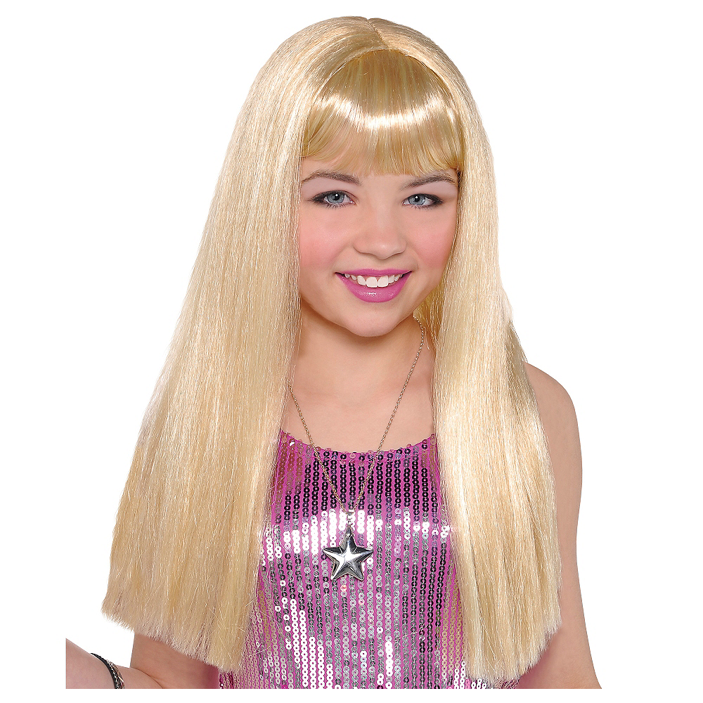Child Long Blonde Wig Image #1