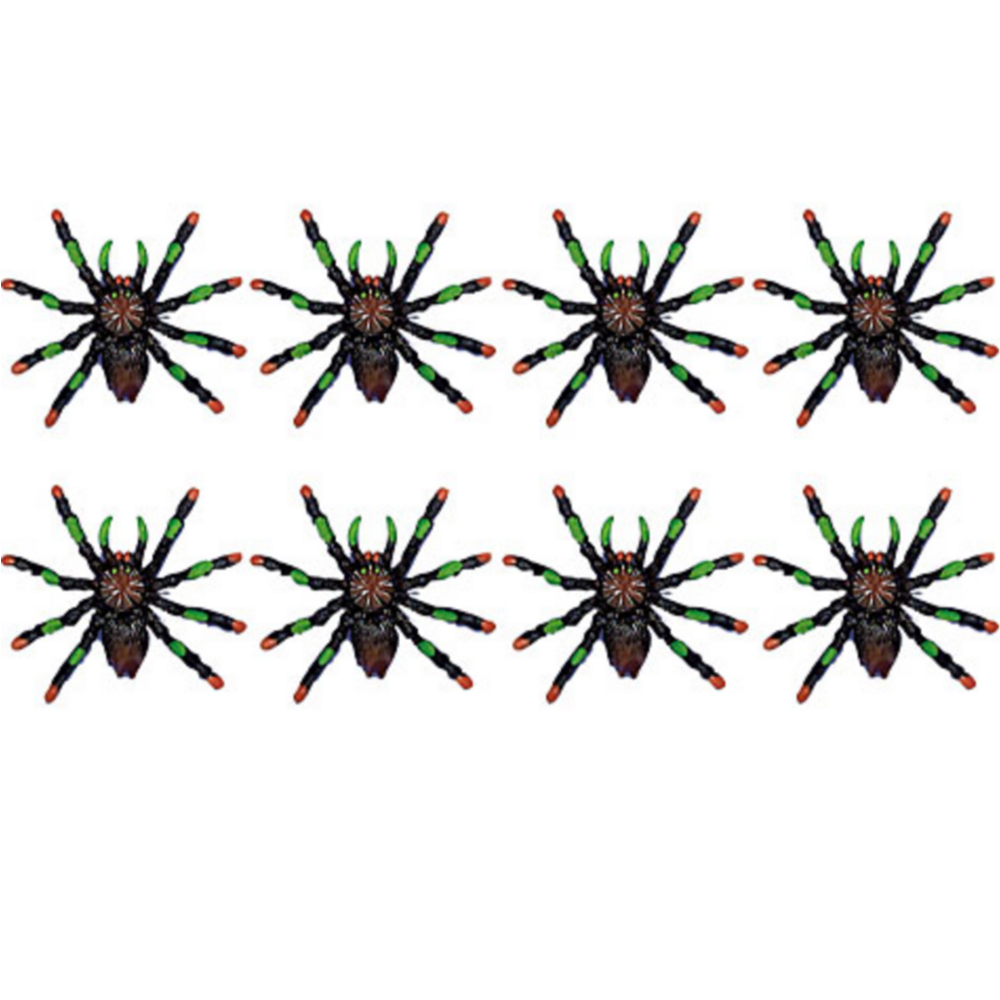Black & Red Tip Spiders 8ct Image #1
