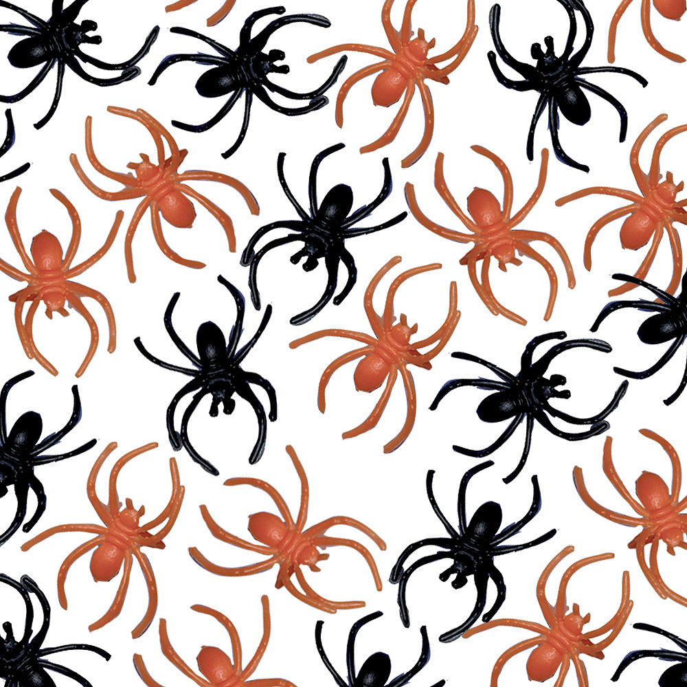 Black & Orange Spider Rings 125ct Image #1