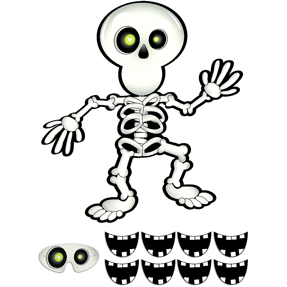 Pin the Smile on the Skeleton Game Image #1
