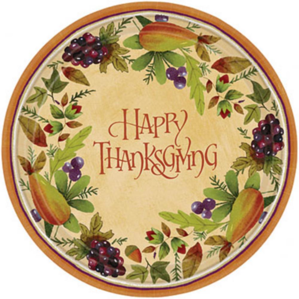 Thanksgiving Medley Dinner Plates 8ct Image #1