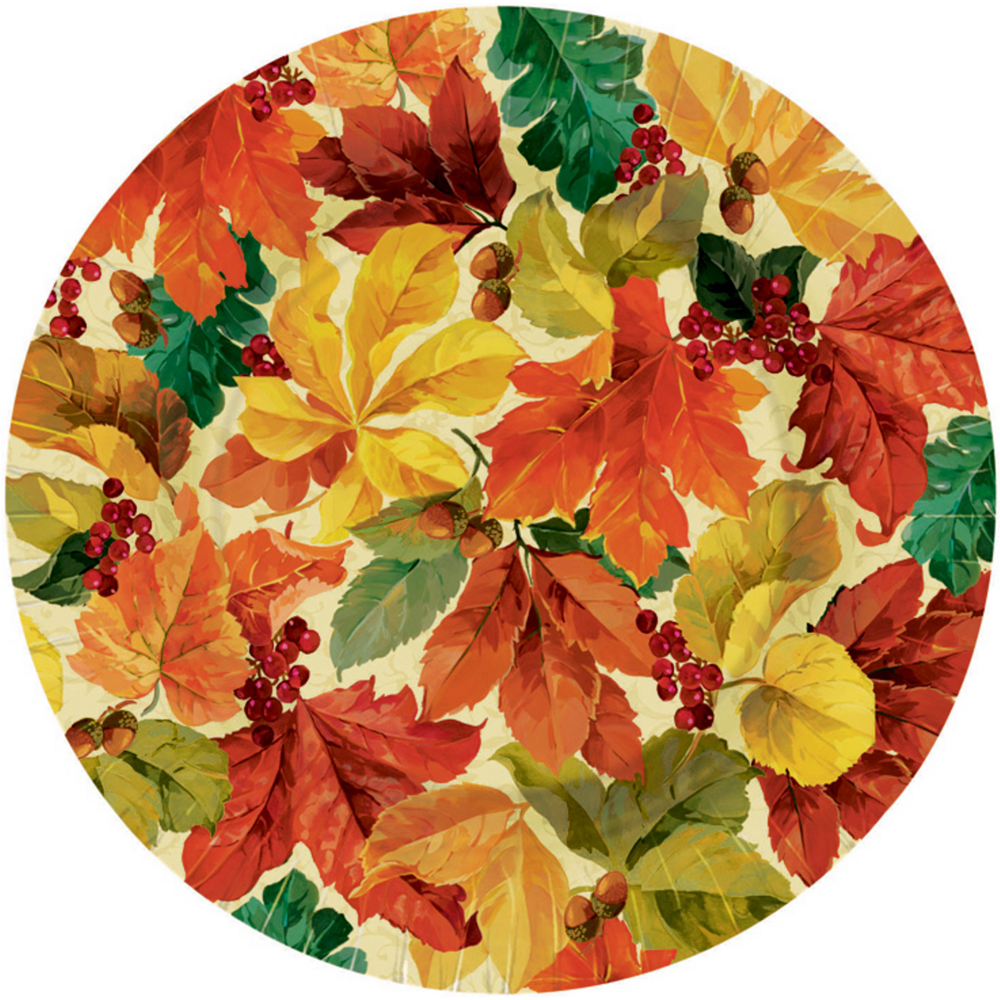 Elegant Leaves Dinner Plates 8ct Image #1
