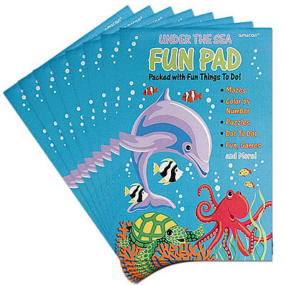 Under the Sea Fun Activity Pads 8ct Image #1